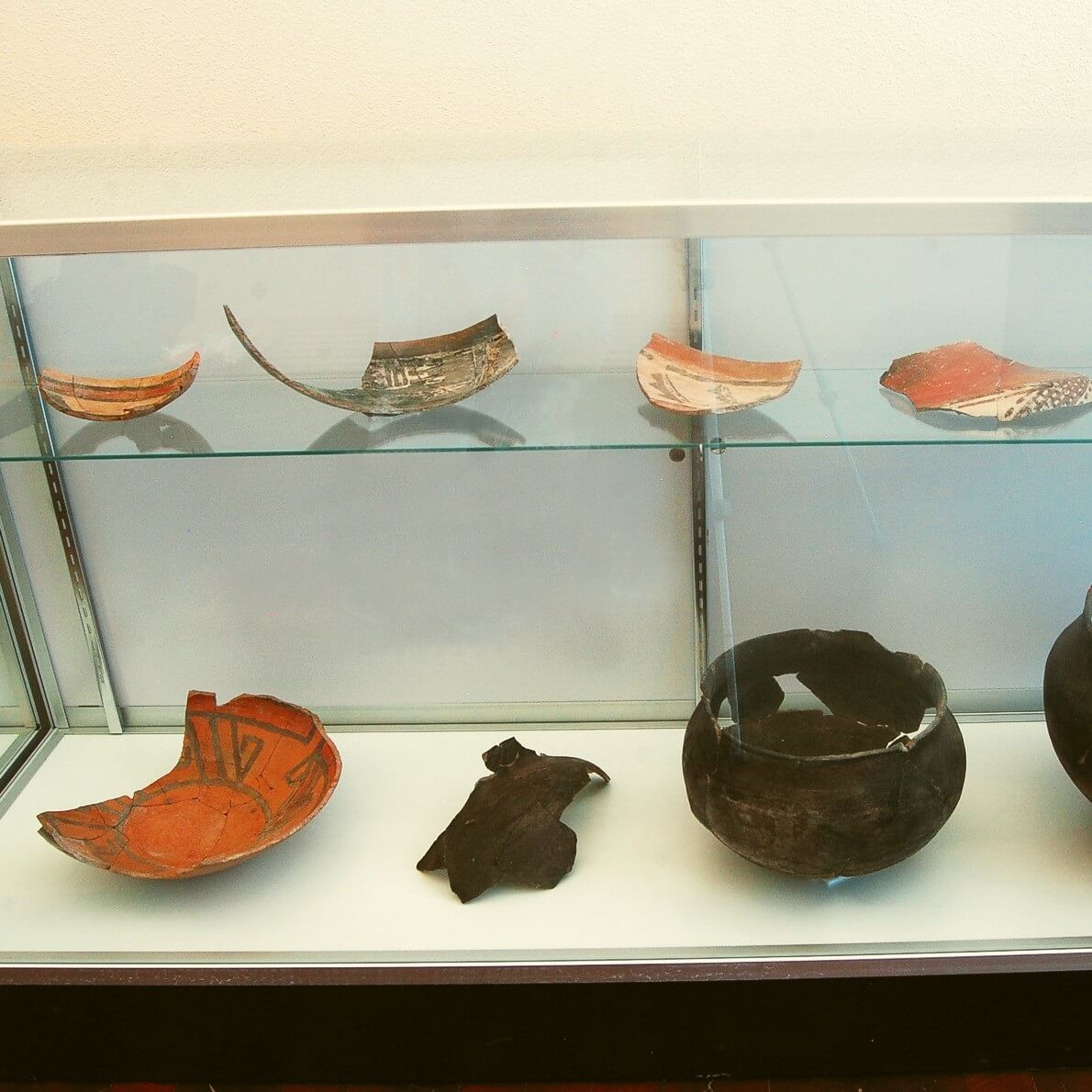 Some of the utility and ceremonial pottery recovered at Teypana.